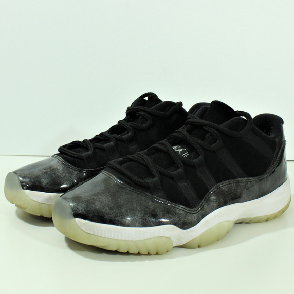 official photos c3f73 026de Nike Air Jordan Retro Low Baron XI 11 Black Silver